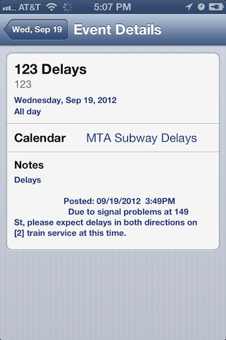 iCal displaying MTA status in iOS